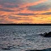 008 Awe In One Sunset Series At Erie Basin Marina Art Print