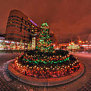 012 Christmas Light Show At Roswell Series Art Print