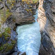 0142 Athabasca River Canyon Art Print