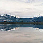 0188 Mountain Reflection Art Print