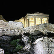 0212 The Acropolis Athens Greece Art Print