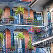 0255 Balconies - New Orleans Art Print