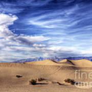0292 Death Valley Sand Dunes Art Print