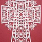 045 Butterfly-cross Art Print