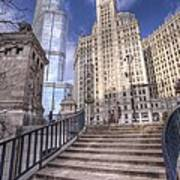 0499 Trump Tower And Wrigley Building Chicago Art Print