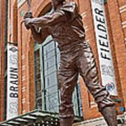0620 Hank Aaron Statue Art Print