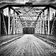 0648 Bow River Bridge Art Print