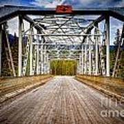 0649 Bow River Bridge Art Print