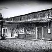 0706 Jerome Ghost Town Black And White Art Print