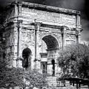 0791 The Arch Of Septimius Severus Black And White Art Print