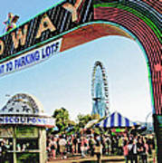 Midway Fun And Excitement  Art Print