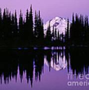 Glacier Peak  In Image Lake Art Print