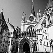 The Royal Courts Of Justice London England Uk Art Print