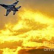 1-iaf F-16i Fighter Jet Art Print