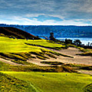 #16 At Chambers Bay Golf Course - Location Of The 2015 U.s. Open Tournament Art Print by David Patterson