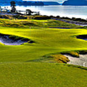 #17 At Chambers Bay Golf Course - Location Of The 2015 U.s. Open Championship Art Print by David Patterson