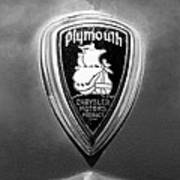 1930 Chrysler Plymouth Emblem Art Print