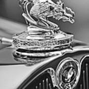 1931 American Austin Roadster Hood Ornament Art Print