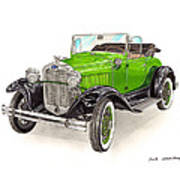 1931 Ford Model A Roadster Art Print