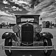 1931 Model T Ford Monochrome Art Print
