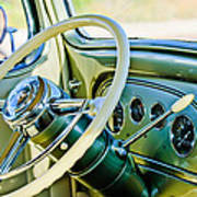 1933 Pontiac Steering Wheel -0463c Art Print