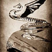 1934 Aftermarket Chevrolet Hood Ornament Art Print