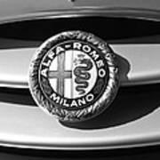 1934 Alfa Romeo 8c Zagato Emblem Art Print