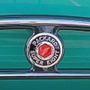 1934 Packard Super 8 Emblem Art Print