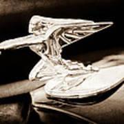 1935 Packard Hood Ornament - Goddess Of Speed Art Print
