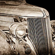 1936 Ford - Stainless Steel Body Art Print