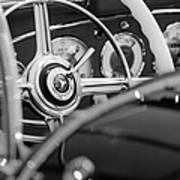 1936 Mercedes-benz 540 Special Roadster Steering Wheel Art Print