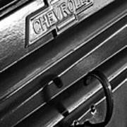 1937 Chevrolet Custom Pickup Emblem Art Print by Jill Reger