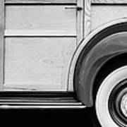 1940 Packard 120 Woody Station Wagon Wheel Emblem Art Print