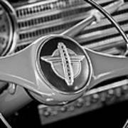 1941 Chevrolet Steering Wheel Emblem Art Print