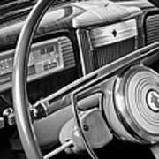 1941 Packard Steering Wheel Art Print