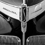 1941 Studebaker Champion Hood Emblem Art Print