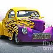 1941 Willys 'pro Street' Coupe Art Print