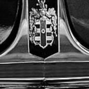 1948 Dodge D24 Club Coupe Emblem Print by Jill Reger