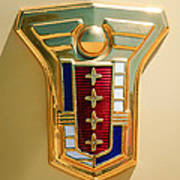 1949 Mercury Station Wagon Emblem Art Print