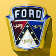 1950 Ford Custom Deluxe Station Wagon Emblem Art Print