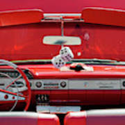 1950s Chevrolet Impala Detail Art Print