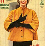 1950s Uk Home Chat Magazine Cover Art Print