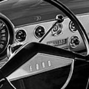 1951 Ford Crestliner Steering Wheel Art Print by Jill Reger