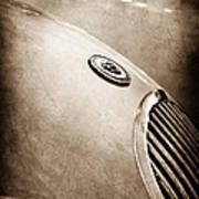 1951 Jaguar Grille Emblem Art Print