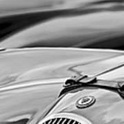 1952 Jaguar Xk 120 John May Speciale Hood Emblem Art Print