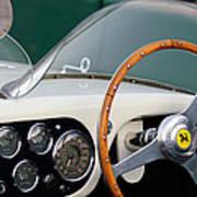 1953 Ferrari 340 Mm Lemans  Spyder Steering Wheel Emblem Art Print