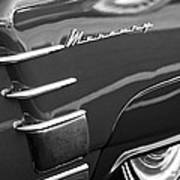 1953 Mercury Monterey Wheel Emblem Art Print