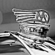 1953 Morgan Plus 4 Le Mans Tt Special Hood Ornament Art Print