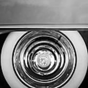 1954 Cadillac Coupe Deville Wheel Emblem Art Print
