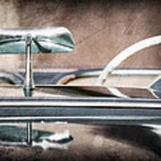 1954 Chevrolet Corvette Rearview Mirror Art Print